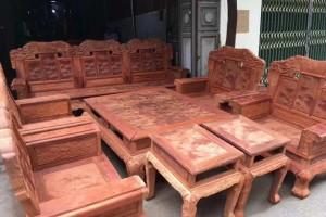 缅甸花梨火焰纹十件套沙发红木家具价格
