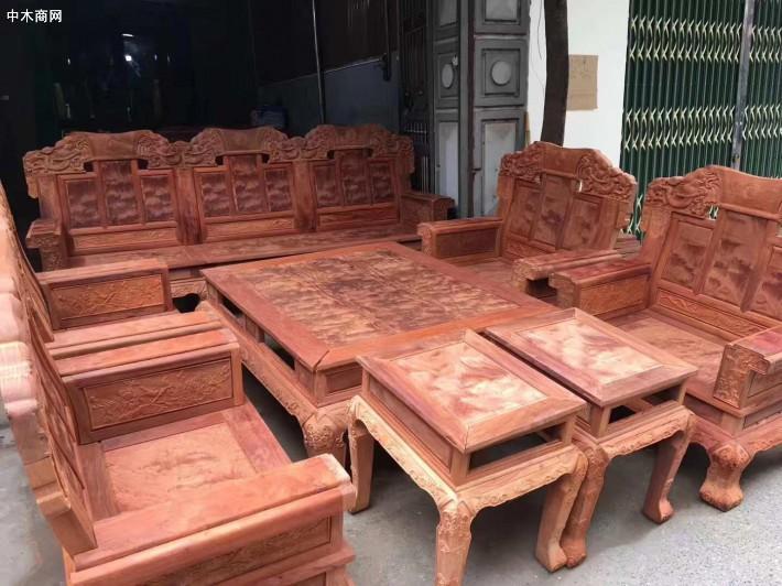 缅甸花梨火焰纹十件套沙发的价格?独一无二的惊爆价!