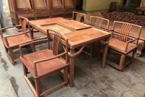 红木家具缅甸花梨木茶台厂家直销
