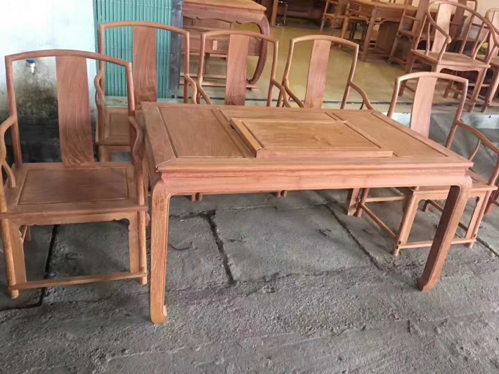 红木家具缅甸花梨木茶台厂家