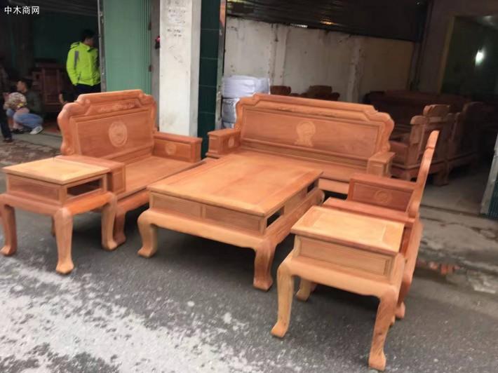 红木家具缅甸花梨木六件套万象沙发厂家批发