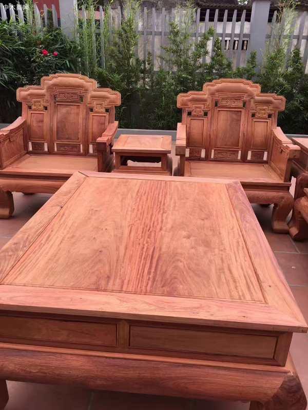 缅甸花梨木红木家具客厅沙发