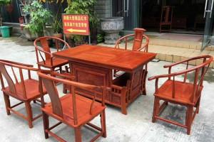 红木家具缅甸花梨木茶台高清图片