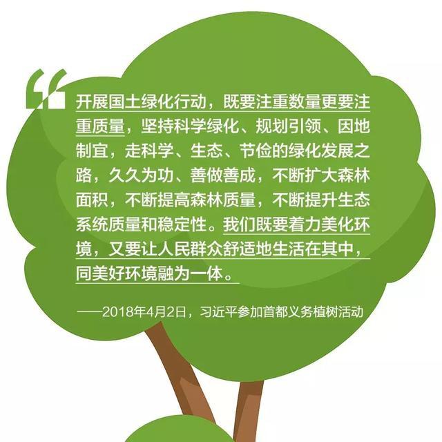 在爱绿护绿、保护生态这件事上