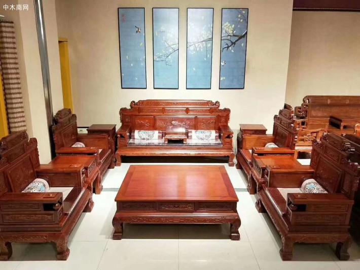 缅甸花梨木红木家具客厅沙发后期如何保养