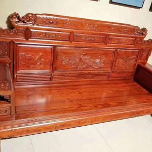 缅甸花梨木客厅沙发红木家具十大名牌