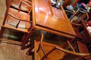 凭祥匠心居红木家具缅甸花梨精品茶台