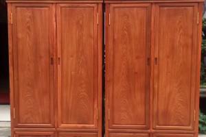 凭祥匠心居红木家具缅甸花梨精品衣柜