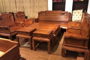 凭祥匠心居红木家具缅甸花梨沙发