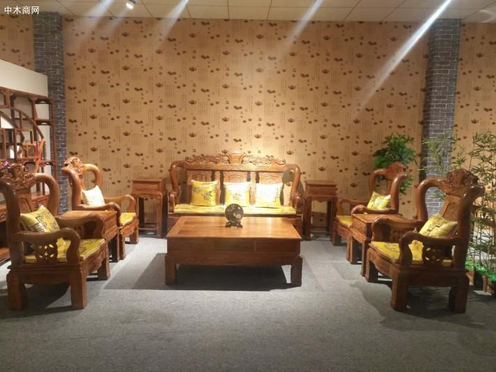 佛山年年红红家具价格刺猬紫檀,大锦绣沙发10件套