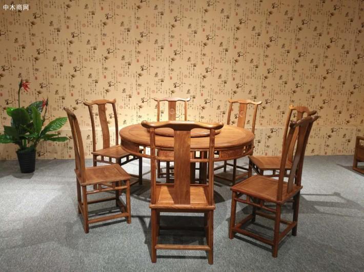 造型优美庄重典雅的红木家具,在变化中求统一,雕饰精细