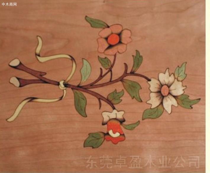 天然木皮与木饰面板品种:缅甸花梨
