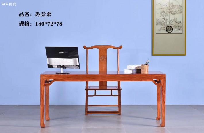 大果紫檀办公桌椅图片