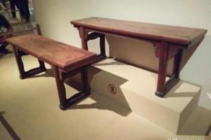 黄花梨春凳,古斯塔夫·艾克旧藏,明式家具研究第一人的见证