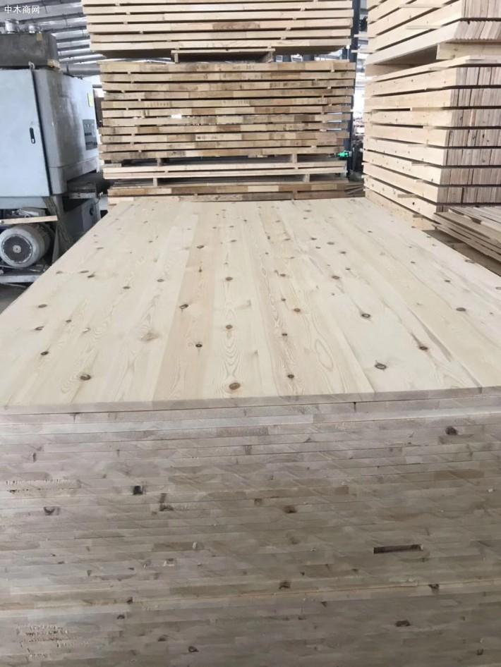 桦木烘干板,自然宽黑心板