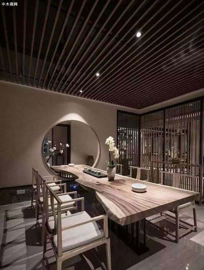 主营实木家具大板茶桌根雕艺术品