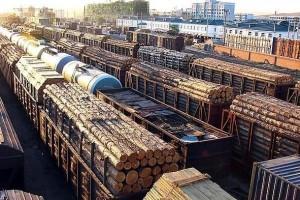 成都铁路口岸今年木材交易有望突破40亿元「木材交易」
