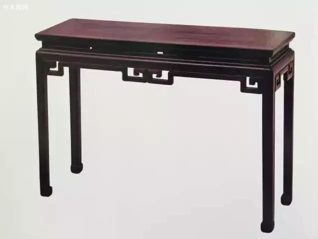 紫檀雕绦环线长桌