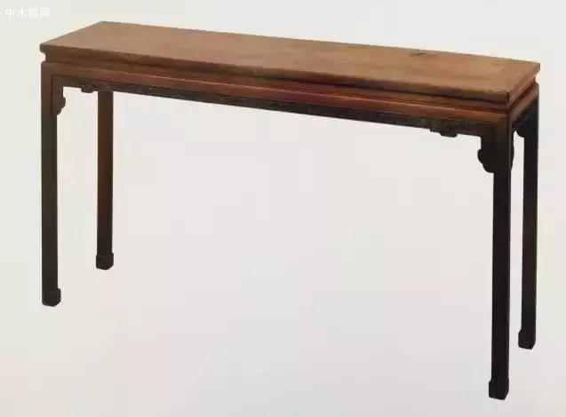 紫檀雕回纹长桌