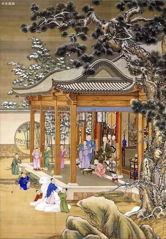 从故宫流传下来的不少宫廷画作中