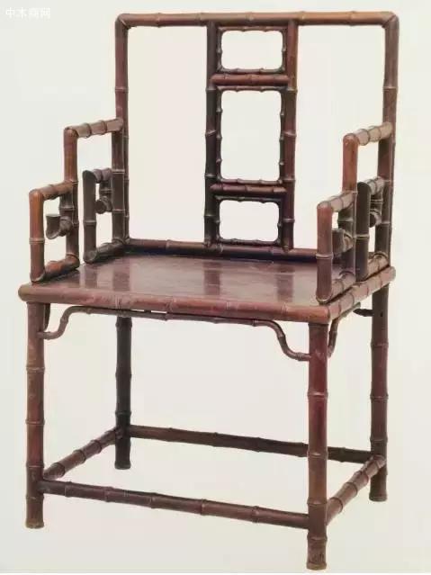 紫檀雕竹节椅