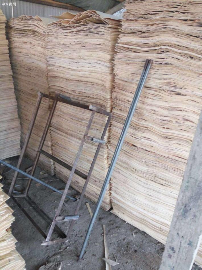 新鲜出炉杨木三拼木皮大量销售