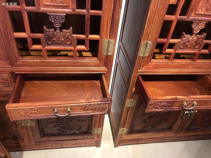 缅甸花梨木书柜-选购