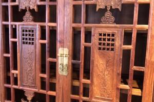 缅甸花梨实木书柜高清实物图片