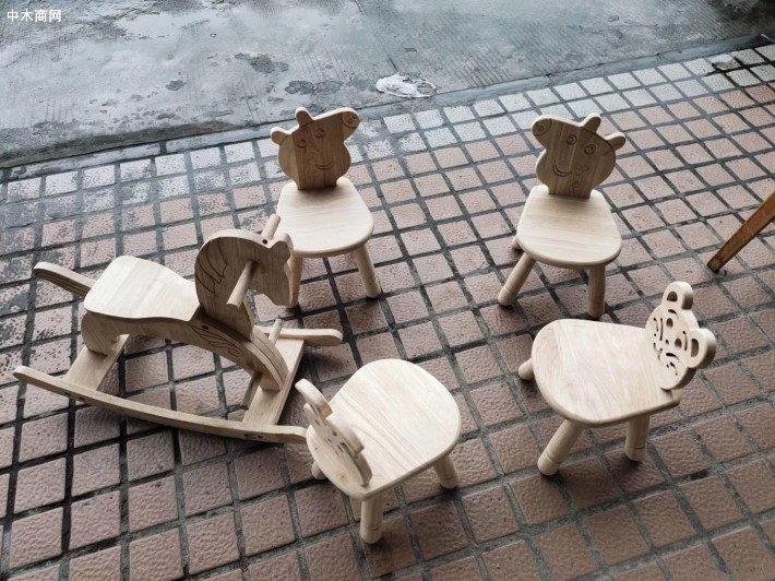 橡胶木儿童宝宝椅儿童桌