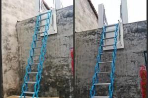 地下室消防伸缩楼梯装修效果图