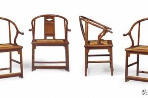 黄花梨嵌大理石成堂圈椅,原美国加州中国古典家具博物馆旧藏