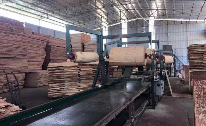 原材料是根据原木进行层切割获得的