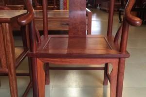 缅甸花梨木圈椅三件套 4500元 独板