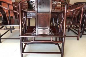 大红酸枝方桌带圈椅五件套,精品现货,生漆工艺,高端大气上档次