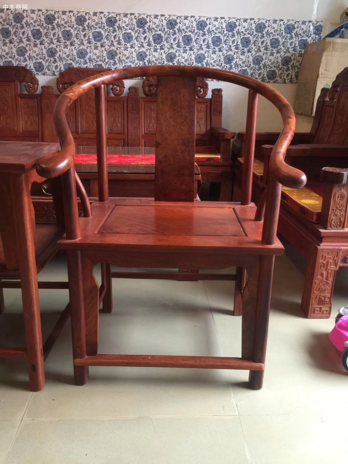 缅甸花梨木圈椅今日最新报价