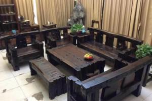 宁波船木沙发 船木餐桌 船木酒柜 船木家具
