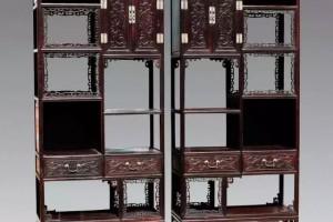 中式红木书架,太美了