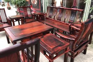 大红酸枝明式沙发10件套价格