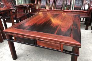 大红酸枝明式沙发10件套高清图片