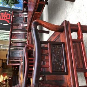 大红酸枝明式沙发10件套十大品牌