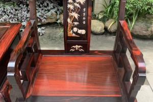 精品大红酸枝太师椅3件套价格