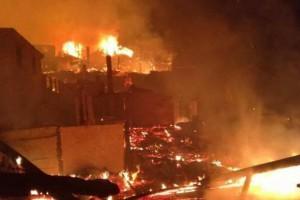 剑河县一木材加工企业发生火灾事故