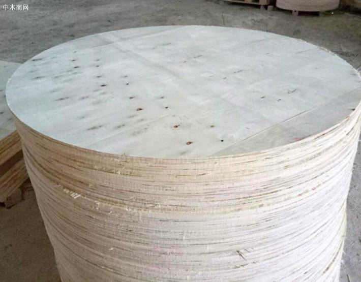 山东聊城临清坤宇木业厂家直销胶合板木圆托盘