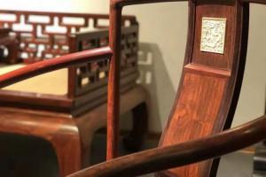 檀香紫檀南官帽椅