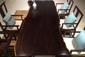 花梨木实木大板鸡翅木实木大板黑檀实木大板认准福建旺其木业
