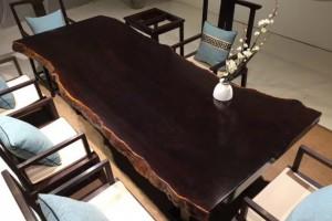 巴新黑檀大板桌