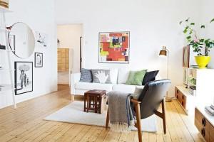 客厅有门怎么解决?客厅壁纸颜色选择