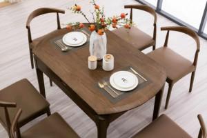 实木餐桌椅多功能伸缩餐台价格