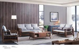 白蜡木实木沙发