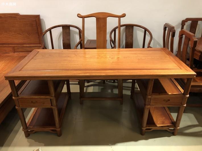 缅甸花梨办公桌/写字台